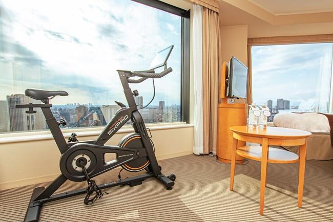 客室でのThe Bike使用イメージ