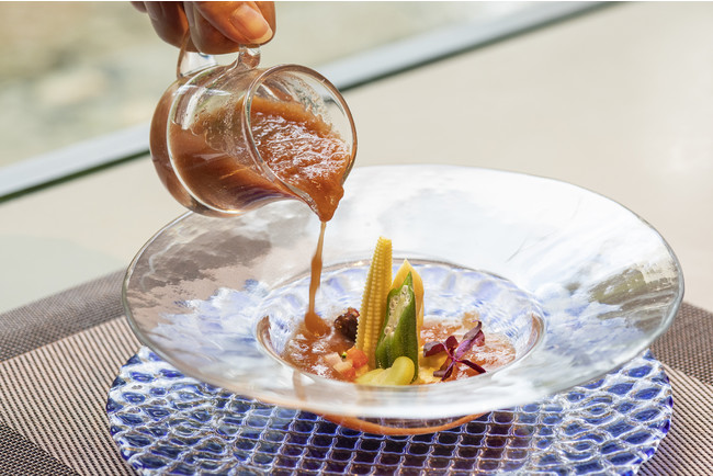 熊本県八代産トマトと野菜の冷製スープ