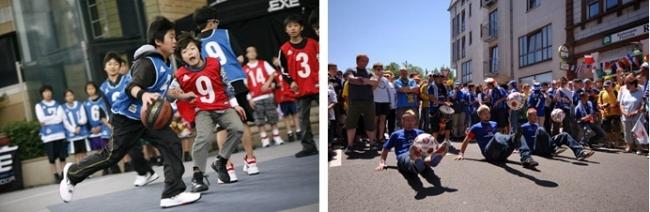 「3x3」、フットボールエンターテイメント集団「球舞」(イメージ)