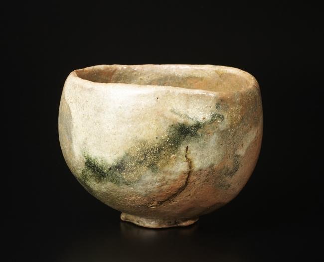 山田山庵(1906~1995)[ 赤楽茶碗 銘「登り龍」]
