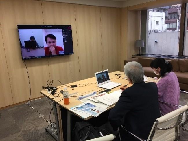 参考:医療機器CEO商談会(オンライン)の様子(2020年10月19日実施)