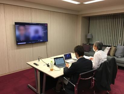 医療機器CEO商談会(オンライン)の様子(2020年10月19日実施)