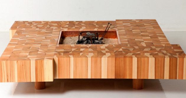 十津川リビング 囲炉裏テーブル