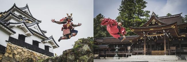 "BBOY TAISUKE in彦根城&多賀大社/本事業のコンセプト「Dramatic Legacy~歴史遺産で発信するものがたり」を""和洋今昔パフォーマンス""で表現!"