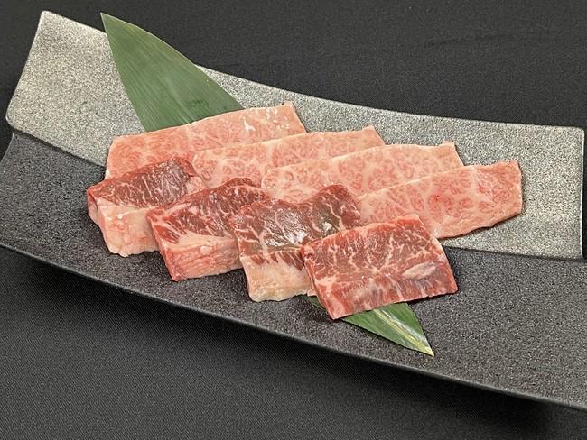 ▲タレ焼肉(特上ハラミ、和牛三角)