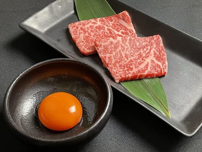 ▲特選ロース 兵庫県産「日本こだわり卵」を絡めて