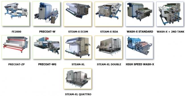 デジタルプリントの前後処理装置(コーティング機・蒸し機・洗い機等)