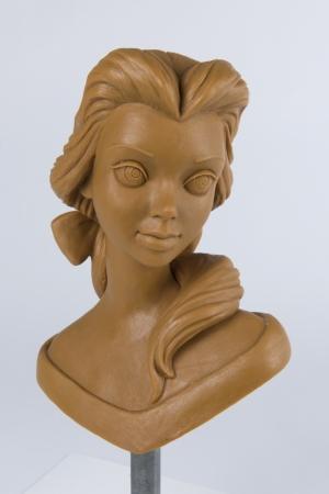 「美女と野獣」ベルの胸像 (1991年)