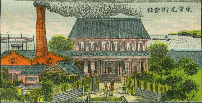 東京瓦斯株式会社 銅版画「東京風景」より 1897年(明治30 )