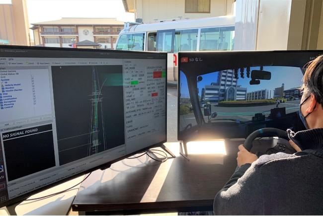 ローカル5Gによる自動運転バスの遠隔監視・操作