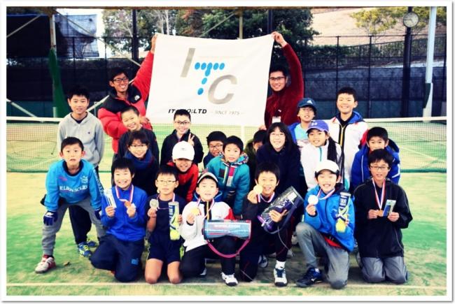 ITCジュニアクラブの新春企画として、「冬休み 合同テニス大会」