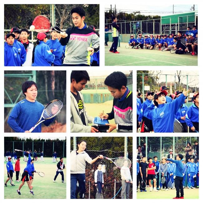 日本リーグの新星 榊原耕平 選手が名谷テニスガーデンにやってきた![2018.12]