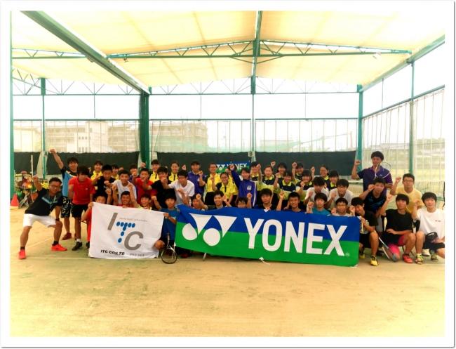 YONEX × ITC コラボ企画。最強 柴田章平選手 テニスガーデン広陵に登場!