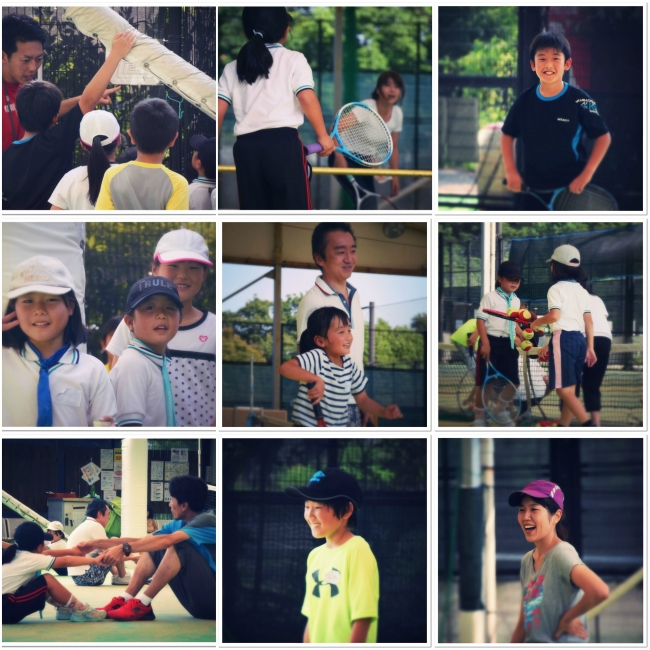 「なかよし親子テニス無料体験会」の一コマ。