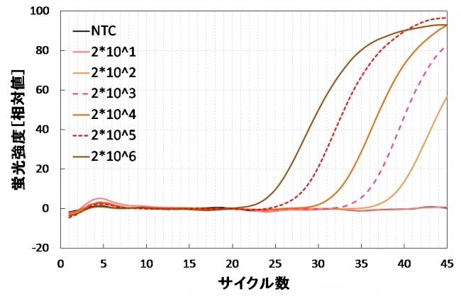 図5 ノロウイルス試薬での測定例