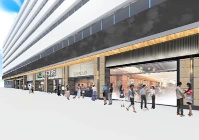 蒲田駅東口外壁美化イメージ