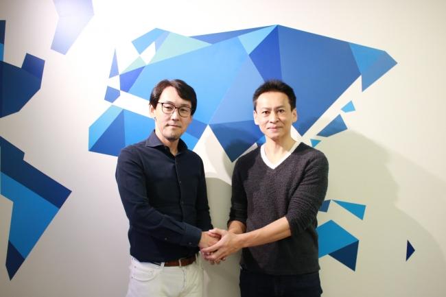 株式会社ベーシック 代表取締役 秋山 勝(左)、mixtape合同会社 共同創業者 堀辺 憲(右)