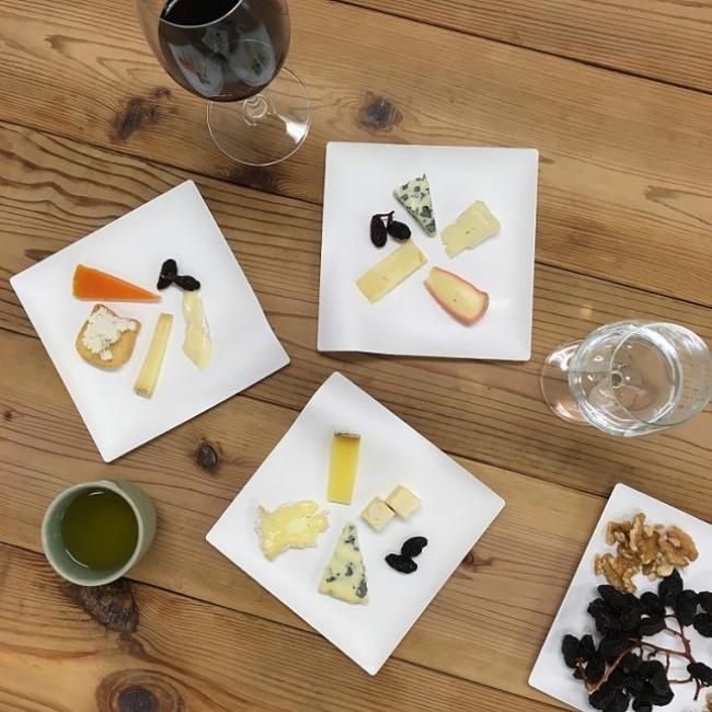 チーズプレート3種(飲み物はワークショップでのみ提供)