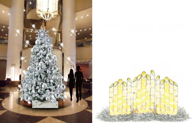 ホワイトクリスマスツリー(左)、バンブーツリー(右)※イメージ画像