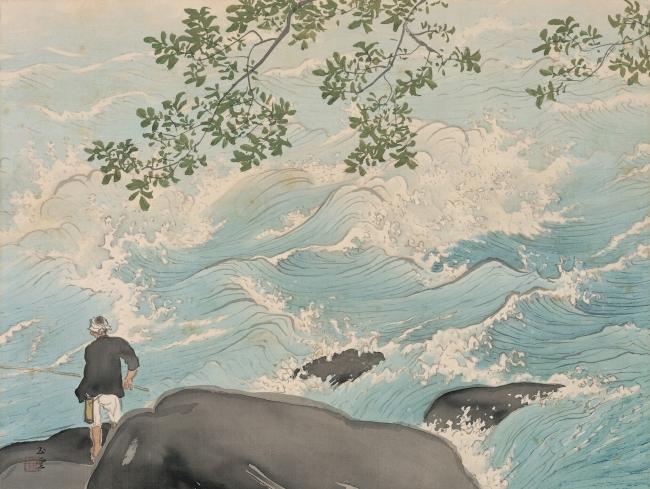 川合玉堂 ≪清湍釣魚≫ 昭和24(1949)年