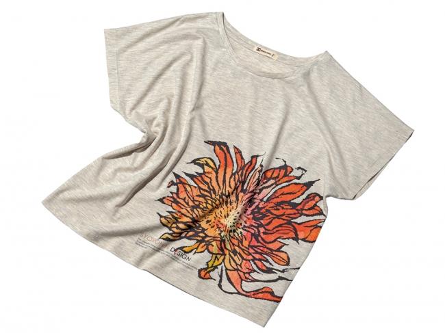 〈琉球ぴらす〉紅gura向日葵Tシャツ