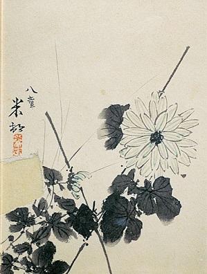 《菊図》大正4年(1915)年 個人蔵 (C)Hiroshi Niiyama 2021