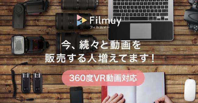 360度VR動画対応 Filmuyフィルムィー