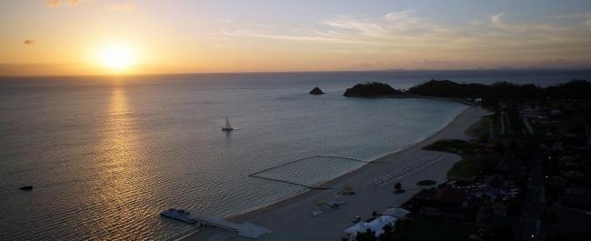 オクマビーチからの夕景