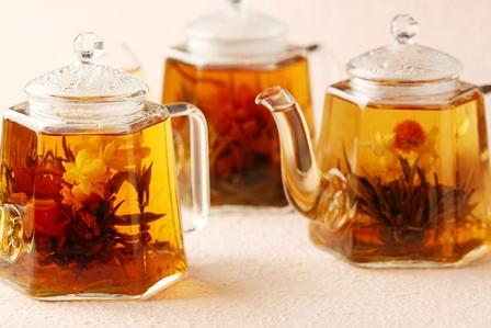 花咲く中国茶で春を先取り 工芸茶3種類