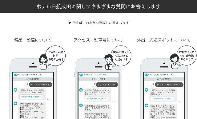 ホテル日航成田 トリップAIコンシェルジュ  説明ページ