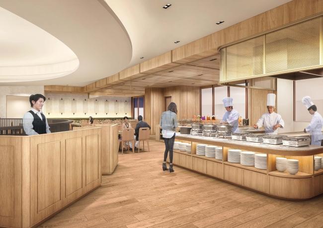改装により新たに生まれ変わる2階のブッフェレストラン