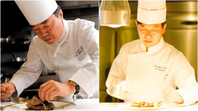 左:ホテル日航福岡/中橋総料理長、右:ホテル日航熊本/中野総料理長