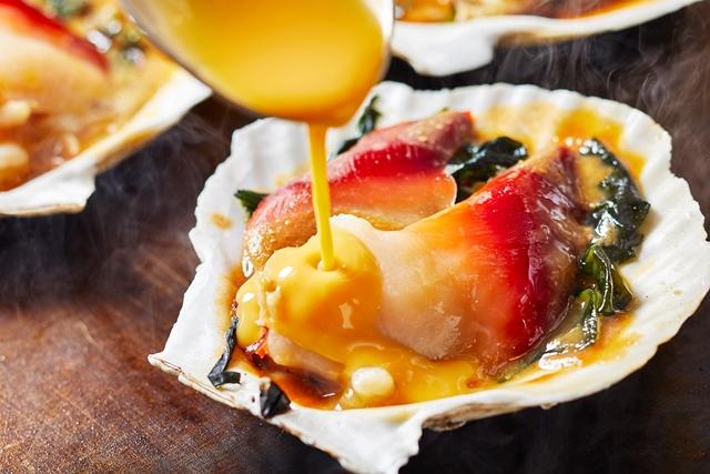 9月15日~21日 宮城県 ホッキ貝と海藻の玉子とじ味噌風味