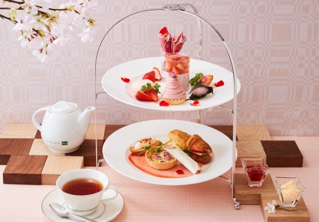 桜と苺のアフタヌーンティーセット イメージ