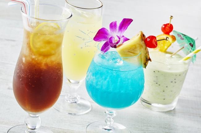 左からDon't be shy、夏物語、アフ オ ラカ(天国の海)、フローズンキウイミルク