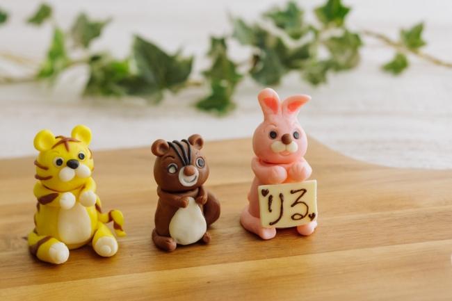 チョコレートを使った動物作り