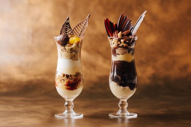 (左)モンブラン (右)チョコレート