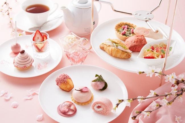 「桜と苺のアフタヌーンティーセット」イメージ