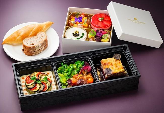 ※ディナーボックスイメージ お持ち帰り用のボックスにお料理をセットしてお渡しいたします