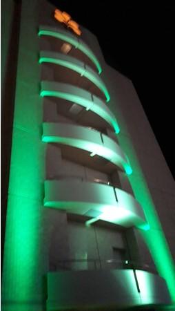 グリーンライトアップの実施風景(2015年)