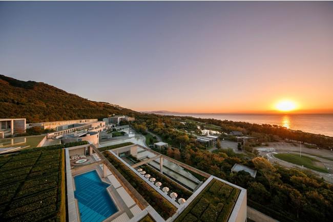東側の客室からの眺め 日の出イメージ