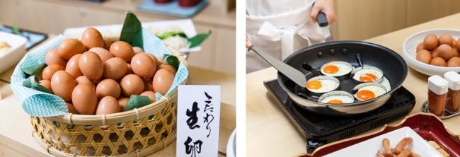 「こだわり家族のこだわり卵」を使った朝食