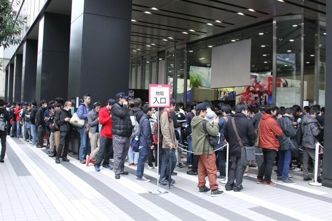 イベント開始前の待機列