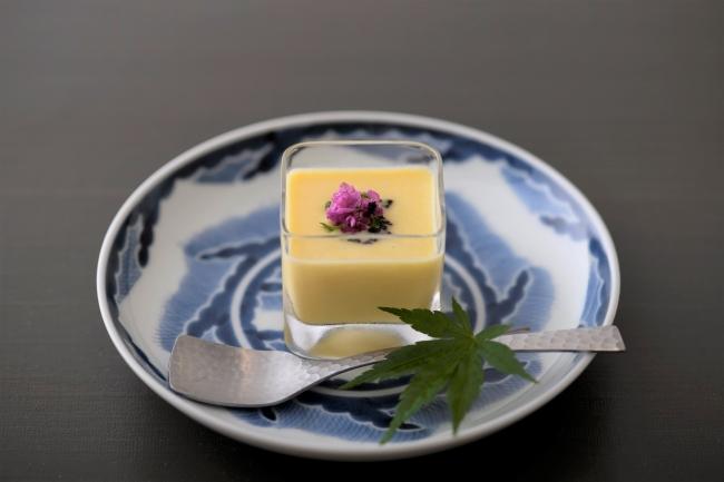 豆腐ととうもろこしのポタージュ 白味噌仕立て 豆豉