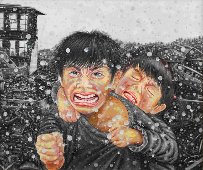 前回、文部科学大臣賞を受賞した佐々木修一さん「負けてたまるか!!」(写実表現部門)