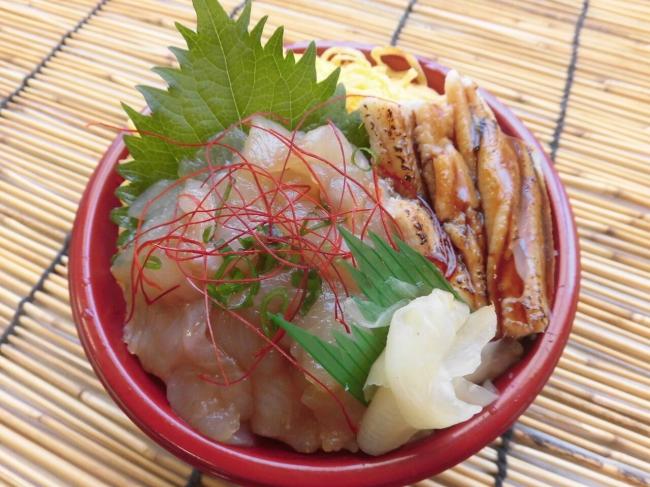 ヒラメと穴子の常磐もの丼(福島県)
