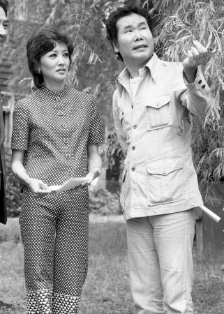映画「男はつらいよ」クランクイン。浅丘ルリ子(左)と渥美清