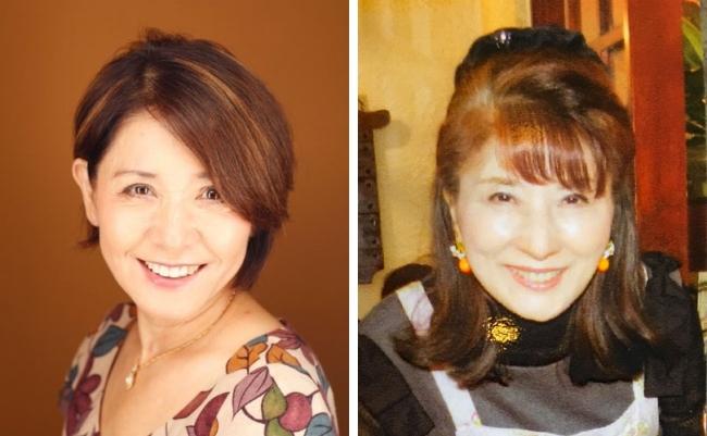 ひし美ゆり子(左)と西恵子
