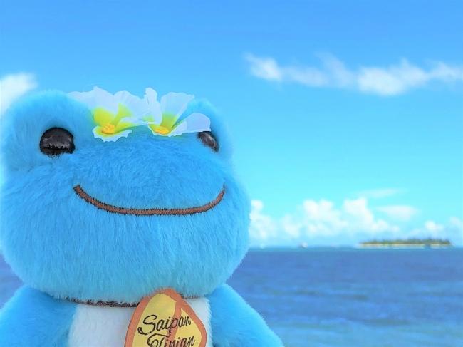 スペシャルコラボで誕生したマリアナ×ピクルス2。マニャガハ島がみえるサイパンのビーチで