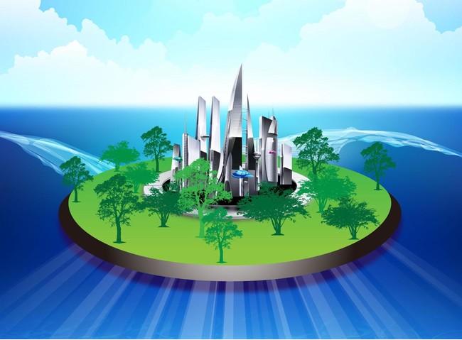 Oceanic Mobile Float City Map